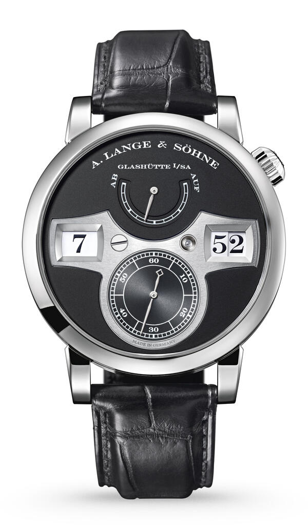 A. Lange & Söhne-A. Lange & Söhne Zeitwerk White Gold With Dial In Black-140.029F