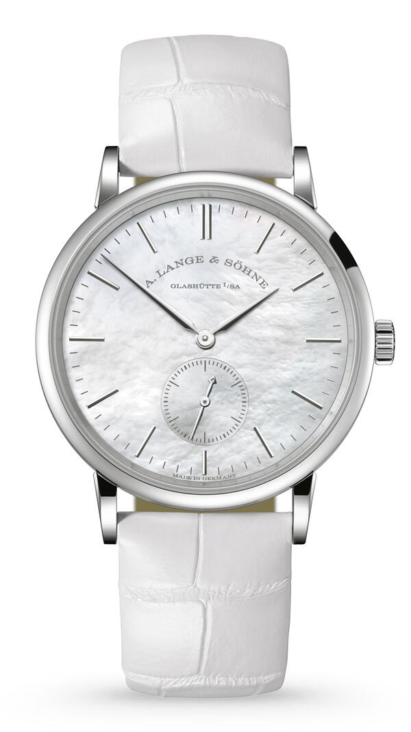 A. Lange & Söhne-A. Lange & Söhne Saxonia White Gold With Mother-Of-Pearl-Coated Dial-219.047_1